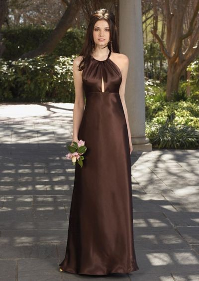 Шоколадное платье вечернее